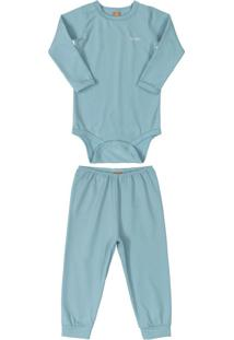 Pijama Térmico Para Bebê Azul