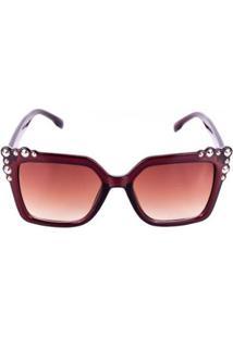 Óculos Solar Feminino Conbelive - Unissex-Marrom