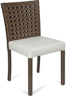 Cadeira Florença Para Área Externa Fibra Sintética Estrutura Alumínio Eco Friendly Design Scaburi
