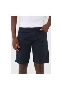 Bermuda Sarja New Era Reta Five Pockets Azul-Marinho