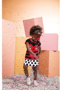 Vestido Curto Com Máscara Infantil Zig Zig Zaa Branco - 2