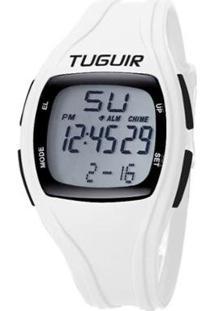 Relógio Pedômetro Tuguir Digital Tg1602P Feminino - Feminino-Branco