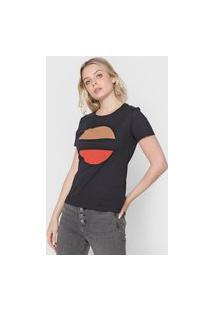 Camiseta Calvin Klein Estampada Preta