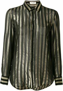 Saint Laurent Camisa Listrada - Preto