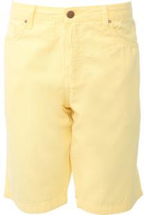 Bermuda Sarja Colcci Reta Color Amarela - Amarelo - Masculino - Algodã£O - Dafiti