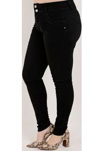 Calça Sarja Plus Size Feminina Amuage Preto
