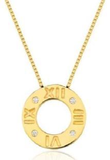 Colar Le Diamond Romano Dourado - Dourado - Feminino - Dafiti