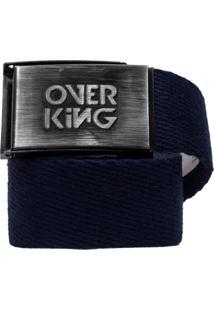 Cinto Overking Basico Fivela Escovado / Azul Marinho