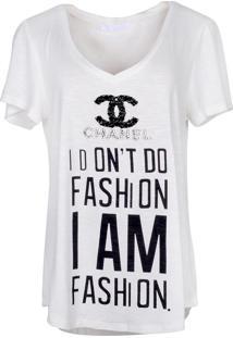 T-Shirt It'S & Co Fashion Off-White