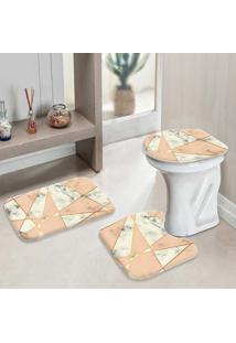 Jogo Tapetes Para Banheiro Geometric Marble