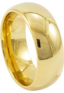 Aliança De Tungstênio New Tungsten 8Mm Dourada