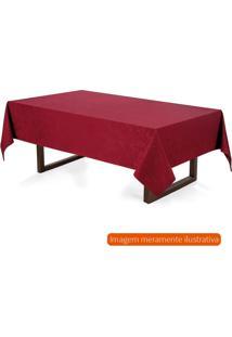 Toalha De Mesa Redonda Verissimo Vermelha