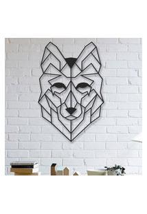 Escultura De Parede A Laser Face Wolf Único