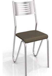 Conjunto 2 Cadeiras Nápoles Crome 2C045Cr-21 Marrom - Kappesberg