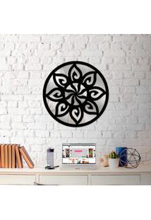 Escultura De Parede Wevans Mandala Sol + Espelho Decorativo