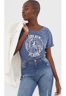 Camiseta Dzarm Estampada Azul - Kanui