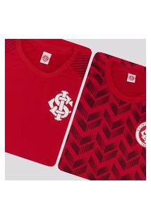 Kit De 2 Camisas Internacional Ludwig Vermelha