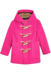 Burberry Kids Double-Faced Wool Duffle Coat - Rosa