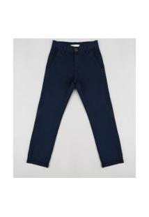 Calça De Sarja Infantil Slim Azul Escuro