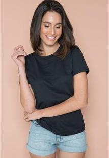 Camiseta T-Shirt Female Sislla Feminina - Feminino-Preto