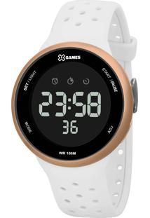 Relógio Pulso X Games Feminino - Quartz Digital - Xfppd059-Pxbx Branco