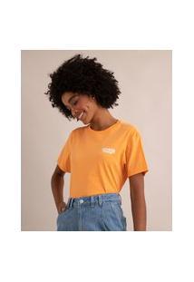 Camiseta De Algodão Stranger Things Manga Curta Decote Redondo Amarela