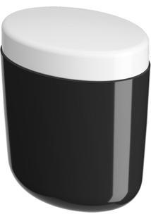Porta-Algodão/Cotonete Coza Full Preto