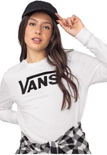 Camiseta Vans Flying V Classic Branca - Branco - Feminino - Dafiti