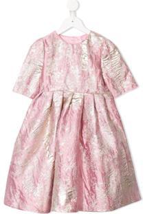 Dolce & Gabbana Kids Vestido De Jacquard - Rosa