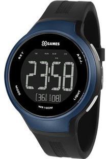 Relógio Digital Quartz Xmppd553Pxpx- Preto & Azul Marinhorient