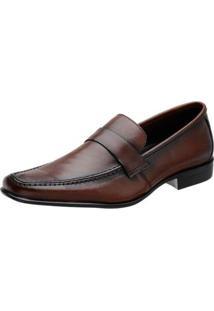 Sapato Social Couro Stefanello Vancouver Avalon Masculino - Masculino-Marrom