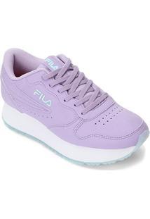 Tenis Fila Euro Jogger Wedge Sl Feminino - Feminino-Lilás+Azul