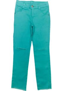Calça Look Jeans Sarja Verde