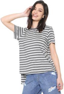 Camiseta Triton Listrada Cinza/Off-White