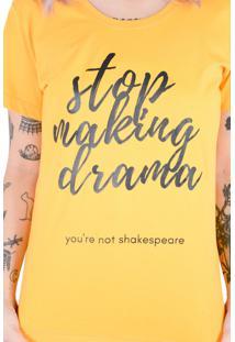 Camiseta Mostarda Drama (, Gg)
