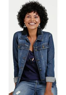 Jaqueta Feminina Jeans Botão Marisa