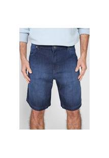Bermuda Jeans Mcd Reta Walk Azul-Marinho