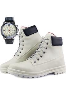 Bota Casual Neway Montini + Relógio Branco