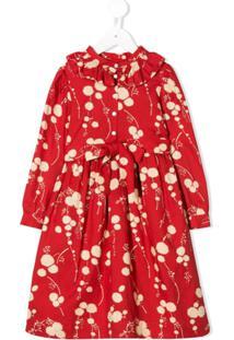 Bonpoint Vestido Com Cinto De Laço - Vermelho