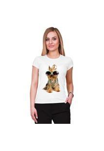 Camiseta Criativa Urbana Pet Lover Yorkshire Branco
