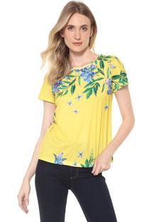 Camiseta Lança Perfume Floral Amarela