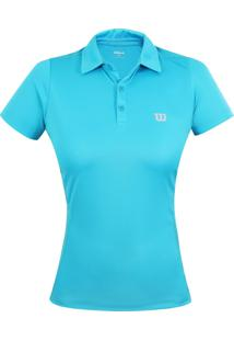 Camiseta Wilson Polo Core F Turquesa