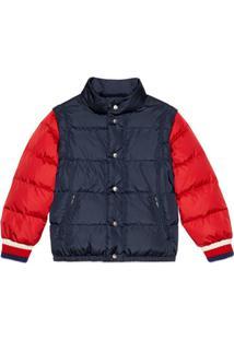 Gucci Kids Children'S Nylon Jacket With Gucci Logo - Azul