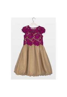 Vestido Laureh Guipir Lupita Pink