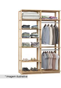 Guarda Roupa Clothes- Carvalho & Mel- 220X140X44,5Cmbentec