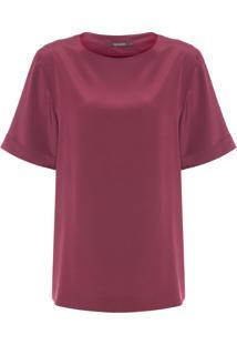 Camiseta Feminina Clara - Vermelho