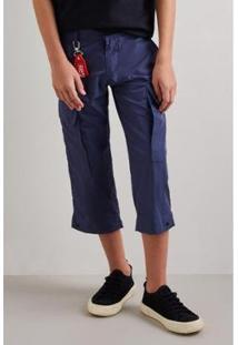 Calça Infantil Nylon Utilitaria Reserva Mini Masculina - Masculino-Marinho