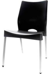 Cadeira Malba Base Fixa Pintada Cinza Cor Preto - 14307 - Sun House