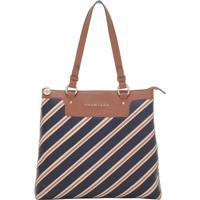 b40d78b70 Bolsa Smart Bag Couro Tiracolo Listras - Feminino-Caramelo