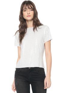 Camiseta Triton Aplicações Off-White